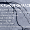 Prognostic value of plaque characteristic assessment