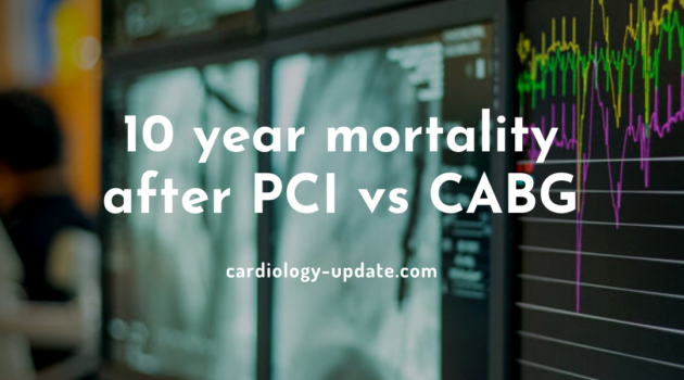 10 year mortality after PCI vs CABG